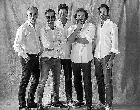 Ángel Bonet, Iván García, Nacho Rivera, Manuel Lencero y Pablo Fernández.
