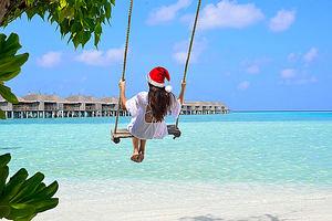 Navidad en Maldivas.