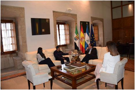 Intensa jornada de trabajo del Embajador de Nicaragua en Extremadura