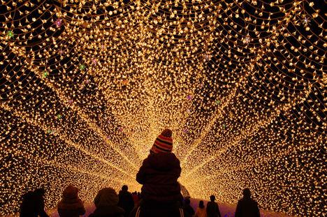 Luces de invierno: el espectáculo que transforma Japón en un cuento de hadas