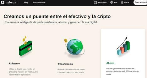 Nebeus, CryptoFintech asentada en Barcelona y Londres, empieza una campaña de crowdfunding en Seedrs