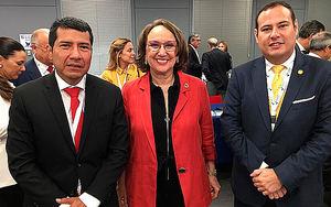 Delegación de Nicaragua junto a Rebeca Grynspan Mayufis, Secretaria General Iberoamericana (SEGIB).
