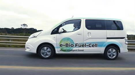 Nissan presenta un vehículo eléctrico con pila de combustible de bio-Etanol
