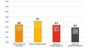 Nivel de cultura de ciberseguridad de las compañías en España.