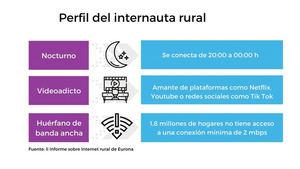 Nocturno, adicto a las plataformas de vídeo y huérfano de banda ancha fija: así es el perfil del internauta rural en España