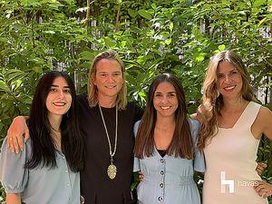 De izqda. a dcha.: Mónica Casado, Carmen Fernández de Alarcón, Carolina Chamorro y Ana Pozuelo.