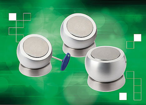 Las nuevas bolas de sujeción magnética de norelem permiten posicionar con facilidad las piezas de trabajo