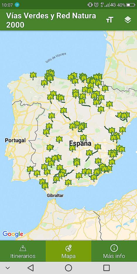"""Nueva App """"Vías Verdes y Red Natura 2000"""""""