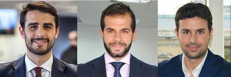 De izqda. a dcha.: Ignacio Suárez, Luis Merino y Alberto Salvador.