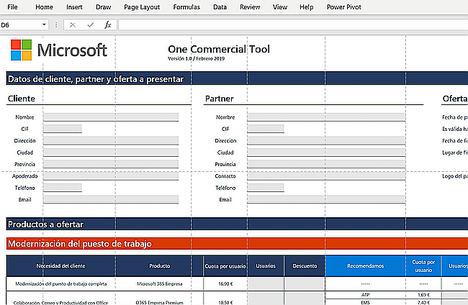 Microsoft lanza OneCommercial Tool, un configurador para simplificar la presentación de soluciones a la pyme