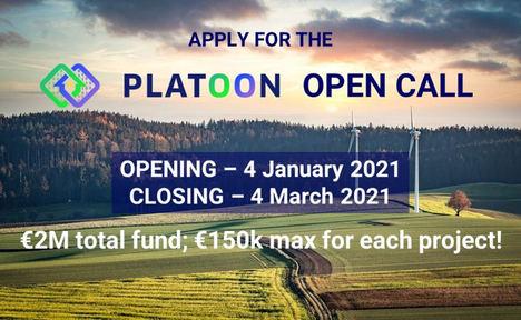 El proyecto de financiación europea PLATOON lanza una convocatoria para la digitalización del sector energético
