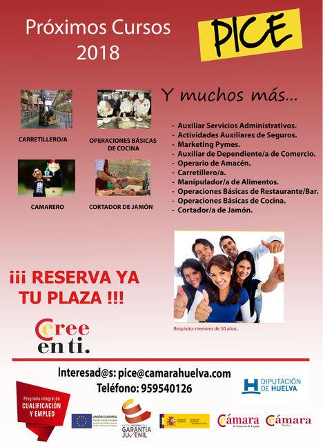 La Cámara de Comercio de Huelva y la Diputación Provincial formarán a jóvenes en una nueva acción del programa Pice
