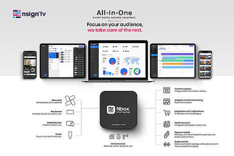Netipbox Technologies debuta en ISE y presenta Nsign.tv, su plataforma SaaSall-in-one de comunicación digital inteligente