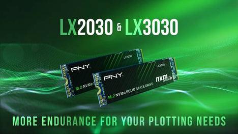 PNY lanza dos nuevos discos SSD M.2 NVMe Gen3 x4: LX2030 y LX3030