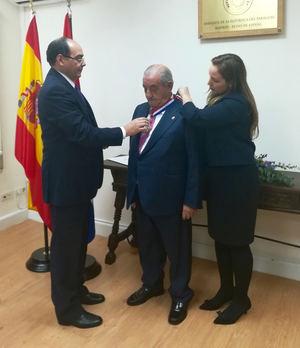 """Paraguay condecora a Juan José Hidalgo con la Orden Nacional al Mérito """"Don José Falcón"""""""