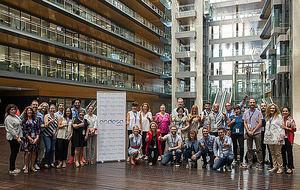 Participantes en el proyecto, en la sede de Endesa en Madrid.