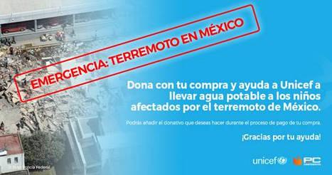 PcComponentes pone en marcha una campaña de emergencia para suministrar agua potable a cientos de niños afectados por el terremoto en México