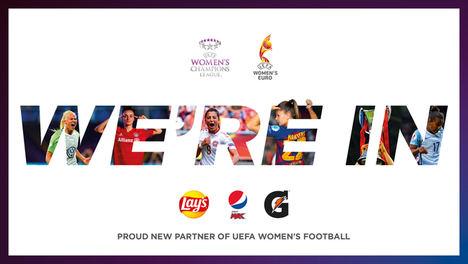 Pepsico anuncia con orgullo el patrocinio del fútbol femenino de la UEFA