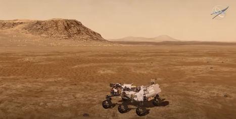 Perseverance aterriza en Marte, explorando Marte gracias a la nube