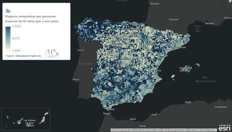AIS Group y Esri aportan a la lucha contra el COVID-19 el mapa de población madrileña mayor de 65 años