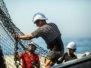 Pescador de Echebastar Oceano índico.