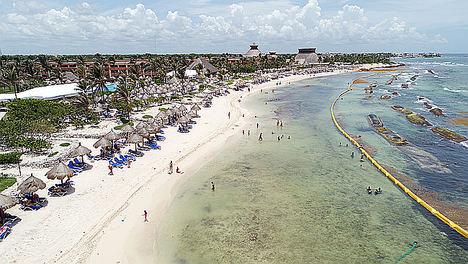 Bahia Principe reduce un 95% la presencia de sargazo en sus playas de Riviera Maya con un pionero sistema de barreras