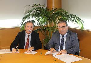 Pío Aguirre, Director General ELKARGI y Jesús Suárez, adjunto a Consejero Delegado de Bankoa Crédit Agricole.