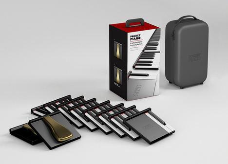 Un joven emprendedor lanza un piano profesional de bolsillo que permite interpretar música en cualquier lugar