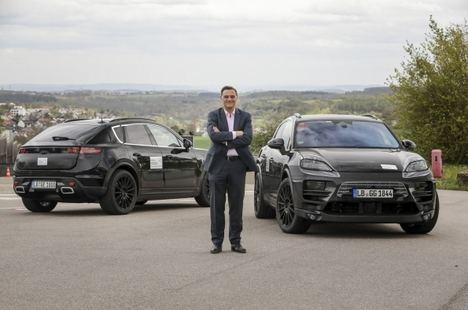 Prototipos digitales y reales del Porsche Macan eléctrico