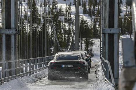 Fase final de las pruebas del Porsche Taycan