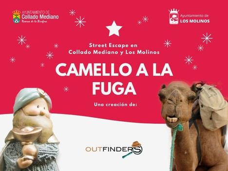 """Outfinders pone en marcha esta Navidad el Street Escape """"Camello a la Fuga"""" en Los Molinos y Collado Mediano"""