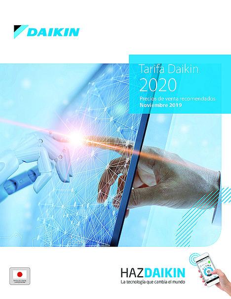 Daikin presenta su nueva tarifa de precios para 2020