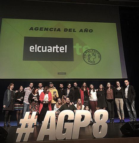 El Cuartel, única agencia española que consigue el galardón de 'Agencia del Año' por tercera vez en los premios Agripina