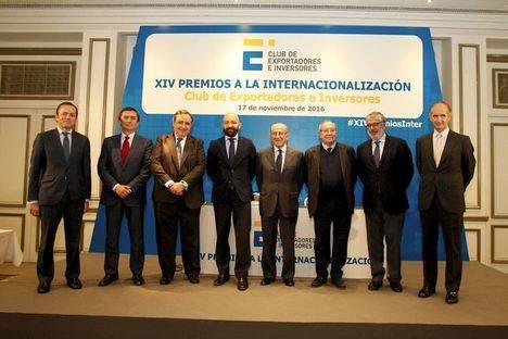 Entregados los XIV Premios a la Internacionalización del Club de Exportadores e Inversores