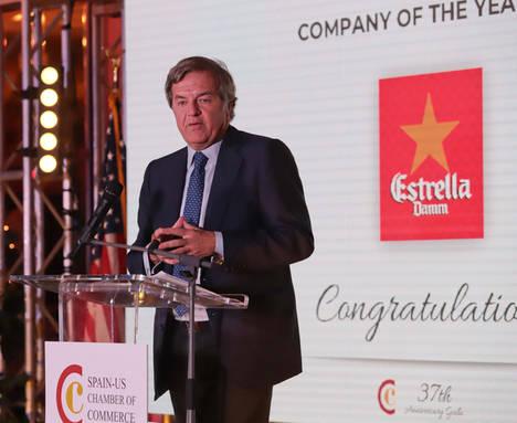 Damm recibe en Miami el premio a la 'Empresa del año 2017' por la Cámara de Comercio España-EEUU