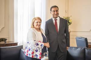 Marie-Louise Coleiro, presidenta de Malta y patrona del Foro Mediterráneo de Turismo, visita la UpM