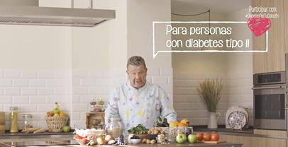 ¿Quieres cocinar con Chicote? #DiabetesPorTuCorazón lanza un concurso de recetas bajas en azúcar y saludables para el corazón