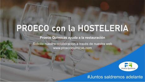 Proeco Químicas se solidariza con la hostelería enviando desinfectantes y detergentes gratuitamente