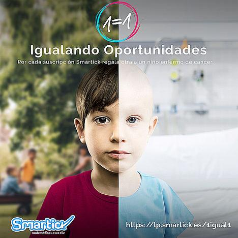 Smartick lanza el Programa 1=1 con motivo del Día Internacional del Cáncer Infantil