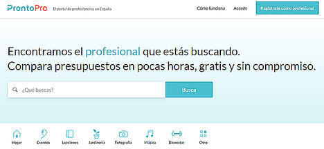 ProntoPro, el portal profesional número 1 en Italia, llega a España