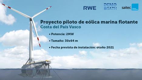 Saitec y RWE Renewables comienzan el primer gran proyecto de generación eólica marina flotante