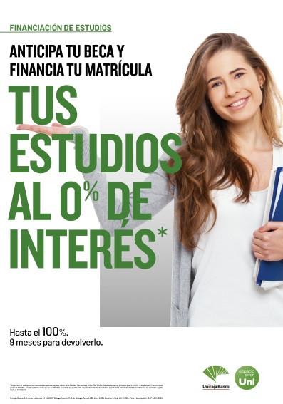 Unicaja Banco facilita a los estudiantes el pago de la matrícula y anticipa las becas con préstamos al 0%