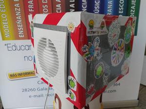 Purificador de aire diseñado por los alumnos del Colegio Gondomar.
