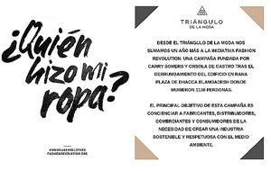 El Triángulo de la Moda se suma a la campaña #QuiénHizoMiRopa