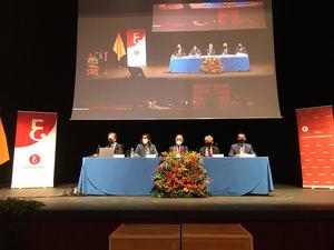 De izda. a dcha.: Carlos Puig de Travy, Ana María Moreno, Gabriel Amat, Valentín Pich y Francisco Tato.