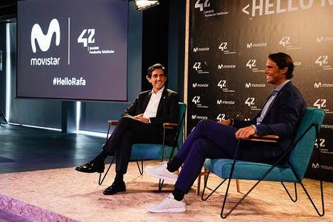 Rafa Nadal refuerza su acuerdo con Telefónica y seguirá siendo su embajador cinco años más