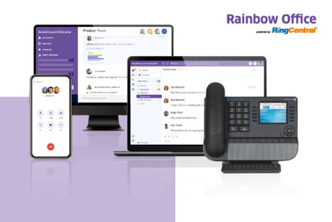 Alcatel-Lucent Enterprise y RingCentral lanzan una nueva solución de comunicación en la nube en España, Rainbow Office, powered by RingCentral