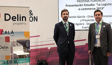Ramón García, Director de Innovación y Proyectos de CEL y Cristóbal Agüero, de Everis Initiatives en Logistics & Distribution.