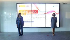 Rebeca Grynspan, secretaria general de la SEGIB y María Peña, consejera delegada de ICEX España Exportación e Inversiones.