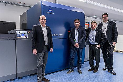 Rehms Druck invierte en la tecnología de inyección de tinta de Konica Minolta